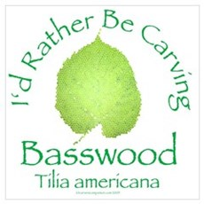 Rather Be Carving Basswood 2 Canvas Art