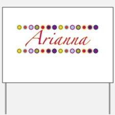 Arianna with Flowers Yard Sign