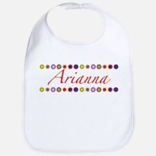 Arianna with Flowers Bib