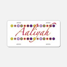 Aaliyah with Flowers Aluminum License Plate