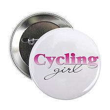 Cycling girl Button