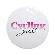 Cycling girl Ornament (Round)