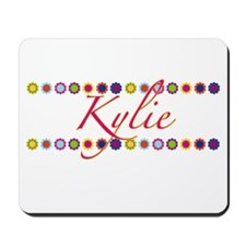 Kylie with Flowers Mousepad