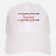 Sydney with Flowers Baseball Baseball Cap