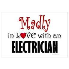Madly In Love (Electrician) Framed Print