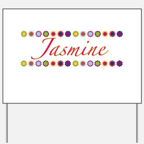 Jasmine with Flowers Yard Sign