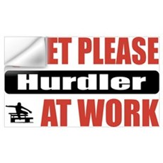 Hurdler Work Wall Decal