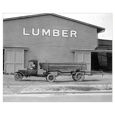 Early Ford Tractor Trailer, 1925 Poster
