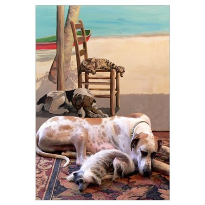 Dogs Nap by Mural Poster
