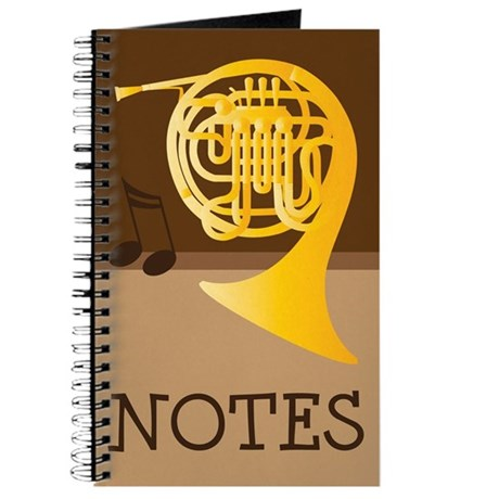 French Horn Music Practice Notes Journal Gift