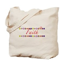 Faith with Flowers Tote Bag