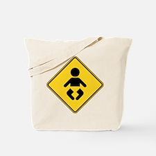 Warning : Baby Tote Bag