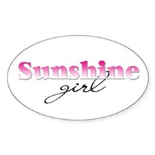 Sunshine girl Oval Decal