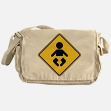 Warning : Baby Messenger Bag