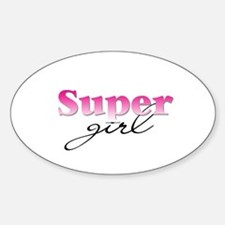 Super girl Oval Decal