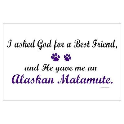 God Gave Me An Alaskan Malamute Poster