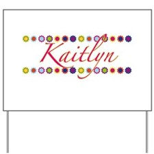 Kaitlyn with Flowers Yard Sign