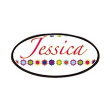 Jessica with Flowers Patches