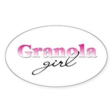 Granola girl Oval Decal