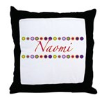 Naomi with Flowers Throw Pillow