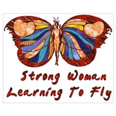Strong Woman Learning To Fly Canvas Art