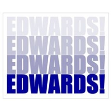 We Want Edwards! Framed Print