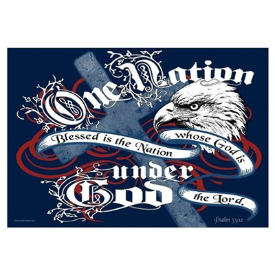 One Nation - Blessed Canvas Art