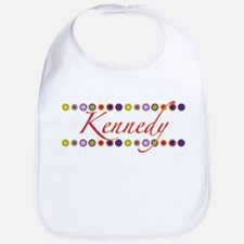 Kennedy with Flowers Bib
