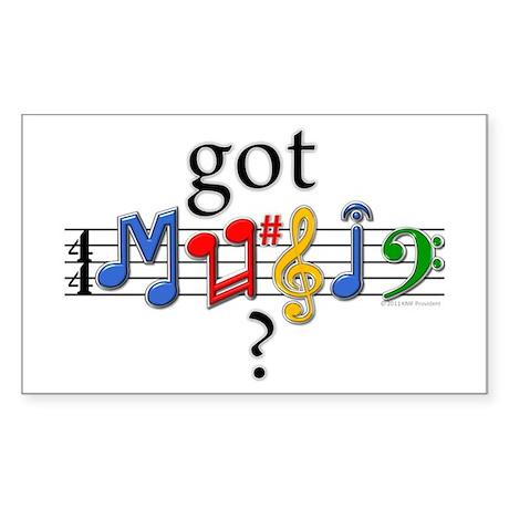 Got Music? Sticker (Rectangle 10 pk)