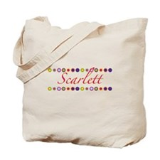 Scarlett with Flowers Tote Bag
