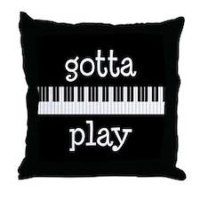 Piano Keyboard Music Throw Pillow