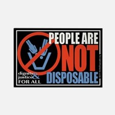 I Am Not Disposable Rectangle Magnet
