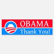 Obama Thank You: Bumper Bumper Bumper Sticker