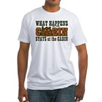 Happens At The Cabin Fitted T-Shirt