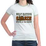 Happens At The Cabin Jr. Ringer T-Shirt