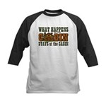 Happens At The Cabin Kids Baseball Jersey