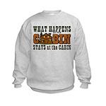 Happens At The Cabin Kids Sweatshirt