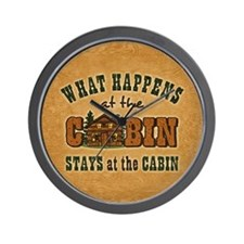 Happens At The Cabin Wall Clock