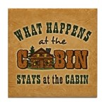 Happens At The Cabin Tile Coaster