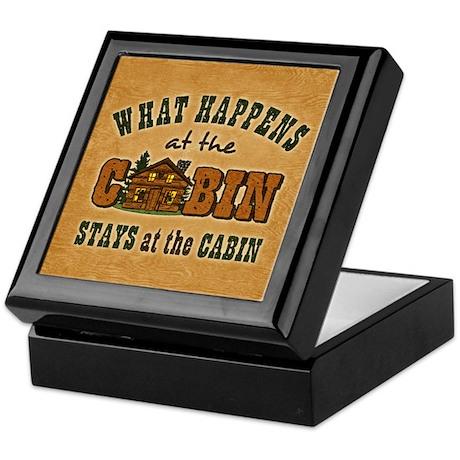 Happens At The Cabin Keepsake Box