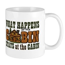 Happens At The Cabin Small Mug