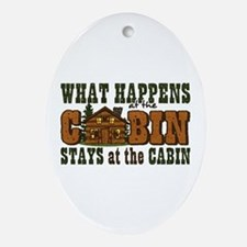 Happens At The Cabin Ornament (Oval)