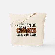 Happens At The Cabin Tote Bag