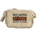 Happens At The Cabin Messenger Bag