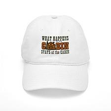 Happens At The Cabin Baseball Cap