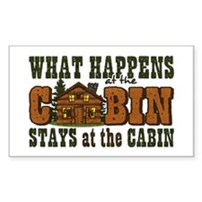 Happens At The Cabin Decal