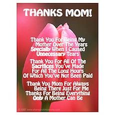Thanks Mom Esp Poem Poster