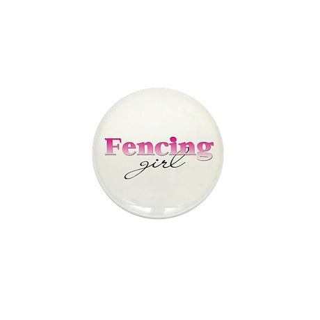 Fencing girl Mini Button