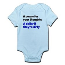 A penny for your thoughts Infant Bodysuit