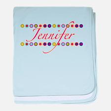 Jennifer with Flowers baby blanket
